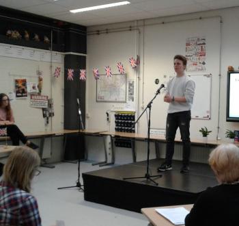 Junior Speaking Contest op het Carmelcollege